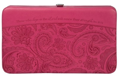 Hope In the Lord, Clutch Wallet, Pink   -