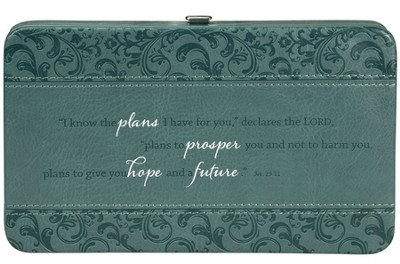 Know the Plans, Clutch Wallet, Teal   -