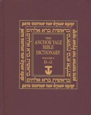 Anchor Yale Bible Dictionary, D-G - Slightly Imperfect   -