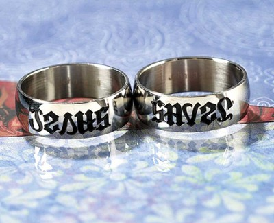 Jesus Saves Reverse-A-Ring, Size 7  -