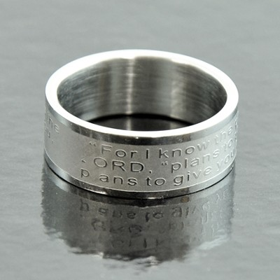 For I Know that Plans, Jeremiah 29:11 Band Ring, Size 6  -