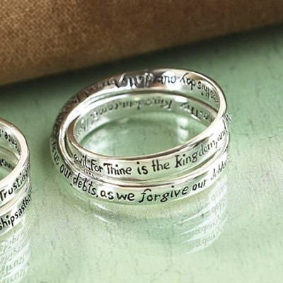 Lord's Prayer Double Mobius Ring, Size 9  -