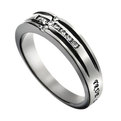 Channel Cross True Love Waits Ring, Size 8  -