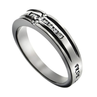 Channel Cross True Love Waits Ring, Size 9  -