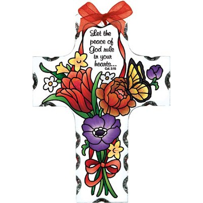 Let the Peace of God Rule in Your Heart, Cross Suncatcher  -