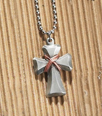Wrapped Cross Budded Necklace  -