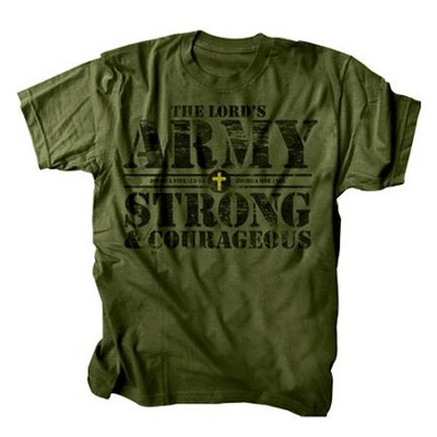 The Lord's Army Shirt, Green, Large  -