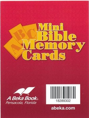 Miniature ABC Bible Memory Cards   -