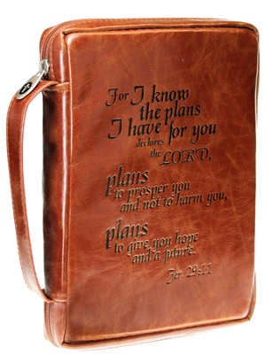 I Know the Plans Bible Cover, Tan, Medium   -