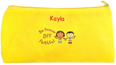 Personalized, Be Forever Faithful Zippered Pencil Case   -