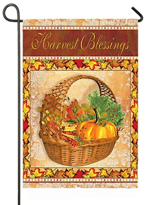 Harvest Blessing, Small Flag  -     By: Grace Pullen
