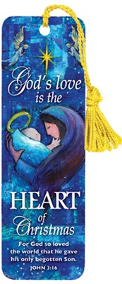 Gods Love Is In the Heart of Christmas Bookmark, Pack of 6  -