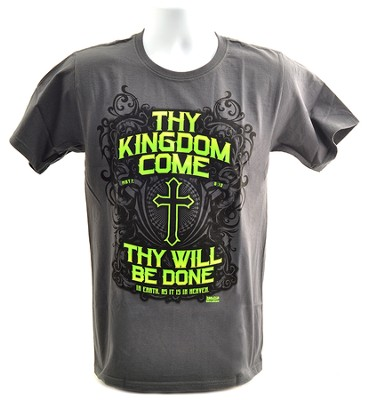 Thy Kingdom Come Shirt, Charcoal  Large  -