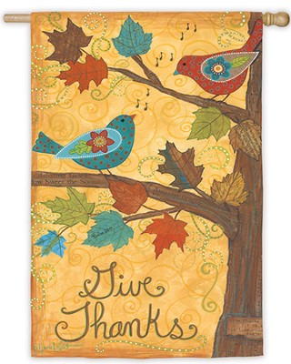 Give Thanks, Small Flag  -     By: Annie LaPoint