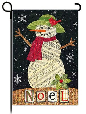 Noel Snowman, Small Flag  -     By: Annie LaPoint
