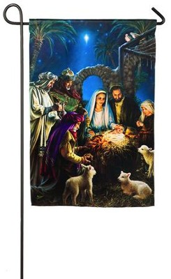 Nativity, Small Flag  -     By: Donna Gelsinger