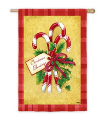 Candy Cane Bouquet, Small Art Flag  -     By: Jane Maday