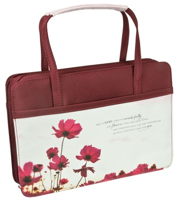 Floral Purse Style Bible Cover, Medium  -