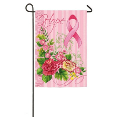 Hope, Breast Cancer Awareness, Small Flag  -
