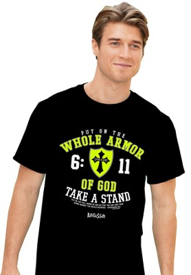 Put On the Whole Armor Of God Shirt, Black, XX-Large  -