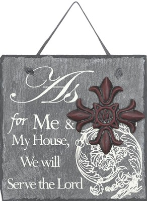 As For Me and My House Plaque  -