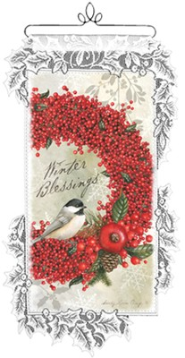Winter Blessings Wall Hanging   -     By: Sandy Clough