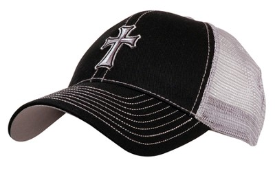 Mesh Cap with Cross  -