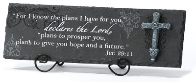 For I Know the Plans I Have Plaque  -