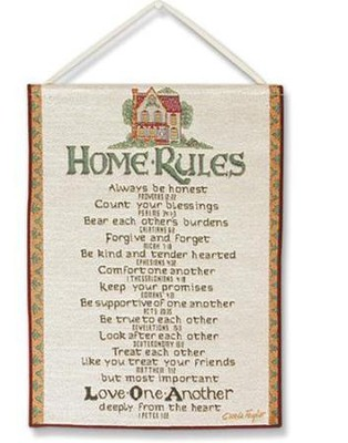 Home Rules, Tapestry Bannerette   -     By: Carol Taylor