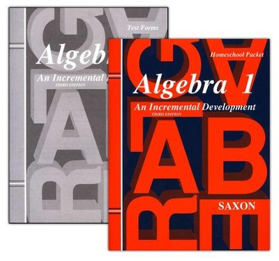 Saxon Algebra 1, Answer Key Booklet & Test Forms   -