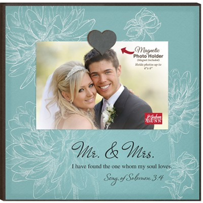 Mr and Mrs, I Have Found the One, Magnetic Photo Frame  -