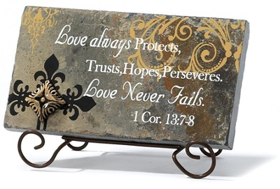 Love Never Fails Plaque  -