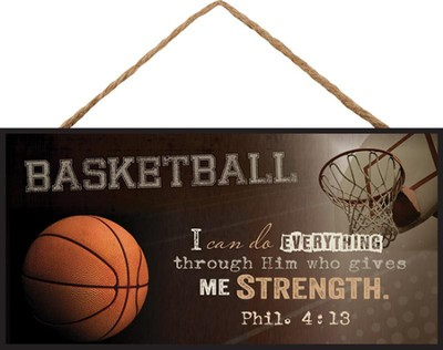 Basketball, I Can Do Everything, Hanging Sign  -