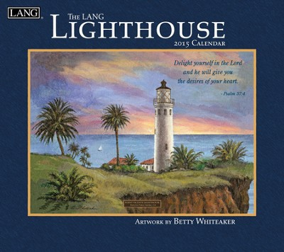 Lighthouse with Scripture, Wall Calendar 2015  -     By: Betty Whiteaker