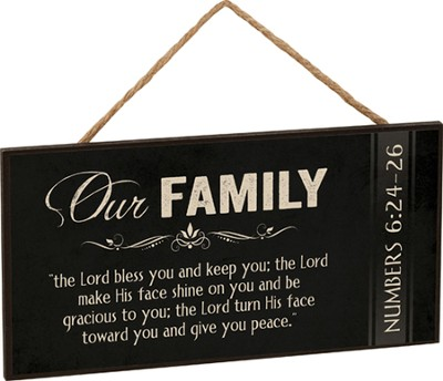 Our Family, The Lord Bless You, Hanging Sign  -