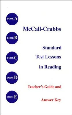McCall-Crabbs Answer Key   -     By: Homeschool