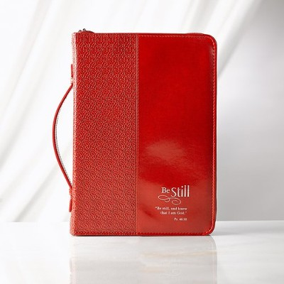 Be Still Bible Cover, Red, Large  -