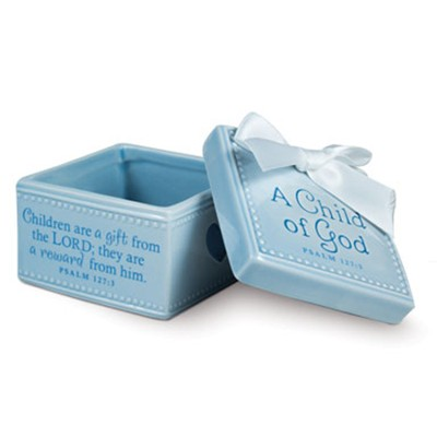 A Child of God Keepsake Box, Blue  -