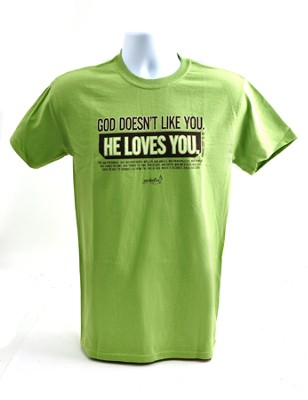 Like You Shirt, Green, Large   -