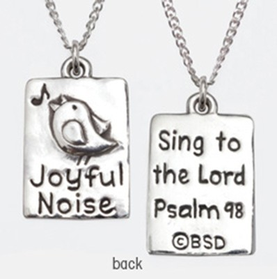 Joyful Noise Necklace, Psalm 98   -