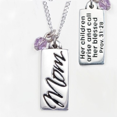 Mom Necklace, Proverbs 31:28   -