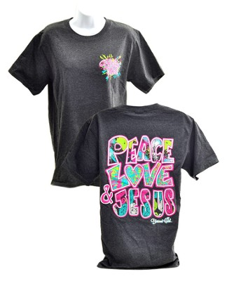 Peace Love Jesus 2, Blessed Girl Tee Shirt, Large  -