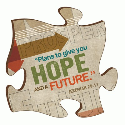 Puzzle Piece, Plans To Give You Hope and A Future Magnet  -