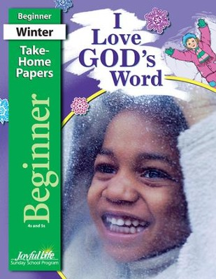 I Love God's Word Beginner (ages 4 & 5) Take-Home Papers, Revised Edition  -