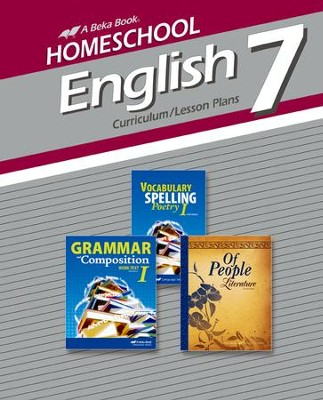 Homeschool English 7 Curriculum/Lesson Plans   -