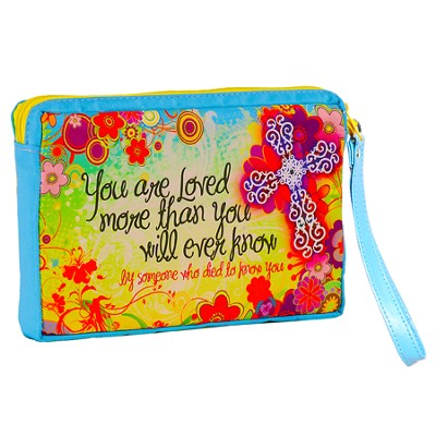You Are Loved, Flowers Wristlet  -