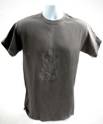 Psalms Guitar Shirt, Gray, Large  -
