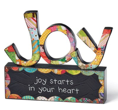 Joy Starts In Your Heart Tabletop Sculpture  -     By: Holly Christine Moody