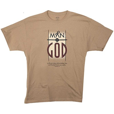 Man Of God Shirt, Brown, XX-Large  -