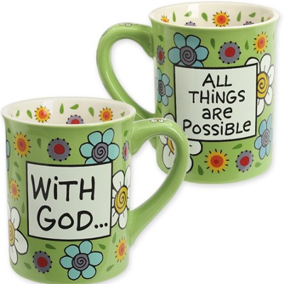 Ceramic Mug, With God All Things are Possible  -